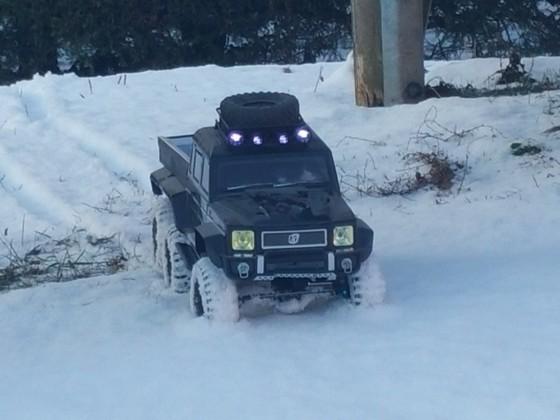 6x6 im schnee