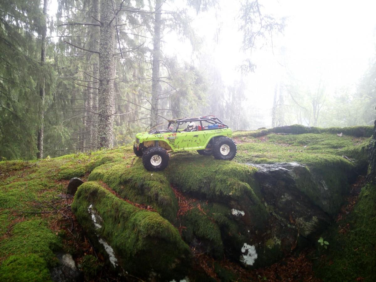 Ruine Hauenstein bei Regen