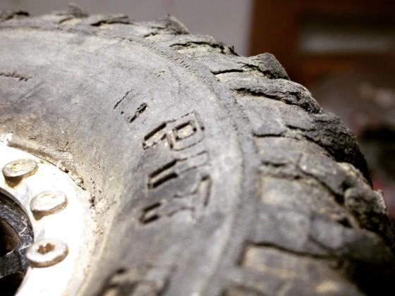 Auch die Reifenflanken sind Teil von der Lauffläche ;-)